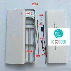 Image 3 - 5V 2A 2.1A 10*18650 mobilny powerbank zestawy DIY 3 USB Power Bank ładowarka moduł płytki drukowanej + 10S baterii Shell Case