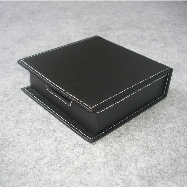 casual note paper holder case with lid card box organizer office desk desktop stationery organization black 312A ...