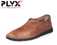 New 2017 Casual Retro British Style Men Genuine Leather Shoes 100 Pure Handmade Men Loafers Chaussure