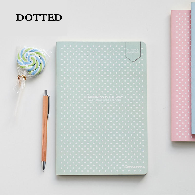Dot Grid Bullet Notebook Stationery Cute Book Soft Cover Dotted Journal Bujo