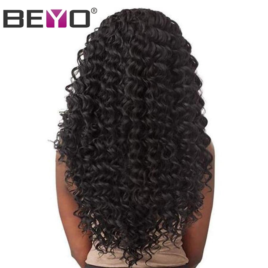13 × 4 ディープ波かつらレースフロント人毛ウィッグ女性ペルー髪事前で摘み取らレースフロントかつらの Remy 毛 Beyo  グループ上の ヘアエクステンション & ウィッグ からの 人毛レースウィッグ の中 1
