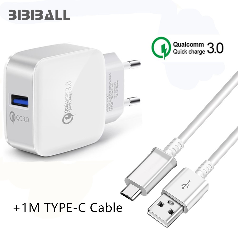 USB Quick Charge 3 0 Fast Charger QC3 0 Wall USB Adapter + TYPE C USB for  Letv Le 2 Pro / 2 Max / Le2 / Le1 / 1 Pro / Max X900