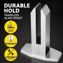 Kinmade Безрамное алюминиевое стекло забор для бассейна опора для стеклянного ограждения устойчивая к погодным условиям квадратная форма