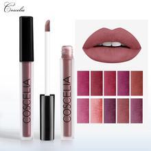 COSCELIA 15 Colors Waterproof Matte Lipstick Red Lip Long Lasting For Makeup Gift