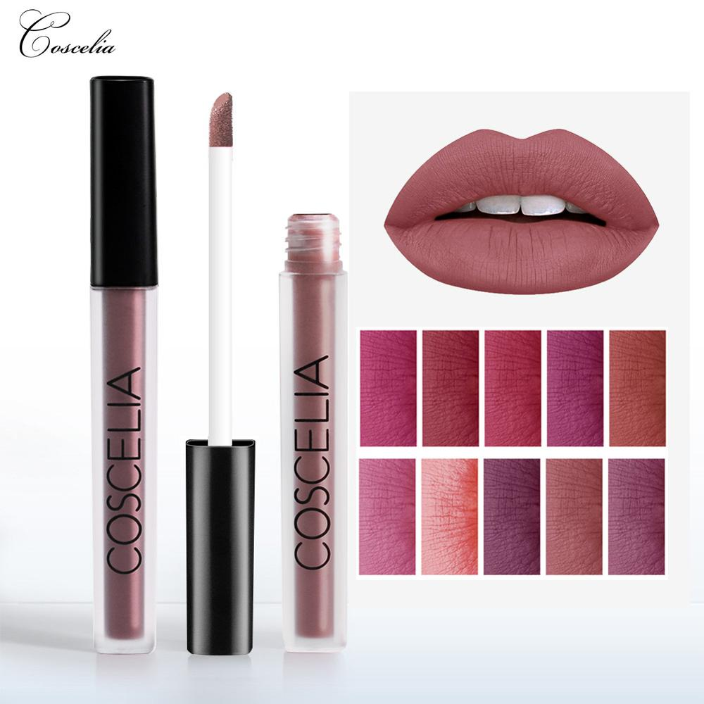 COSCELIA 15 Colors Waterproof Matte Lipstick Red Lip Long Lasting Lipstick Matte For Makeup Red Lip Matte Long Lasting Gift image