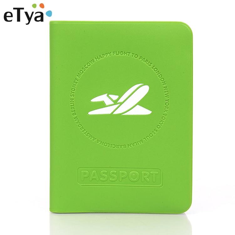 ETya Travel Passport Cover Wallet Men Women Business ID Card Holder Tickets Passport Holder Protective Case Passport Wallets Hot