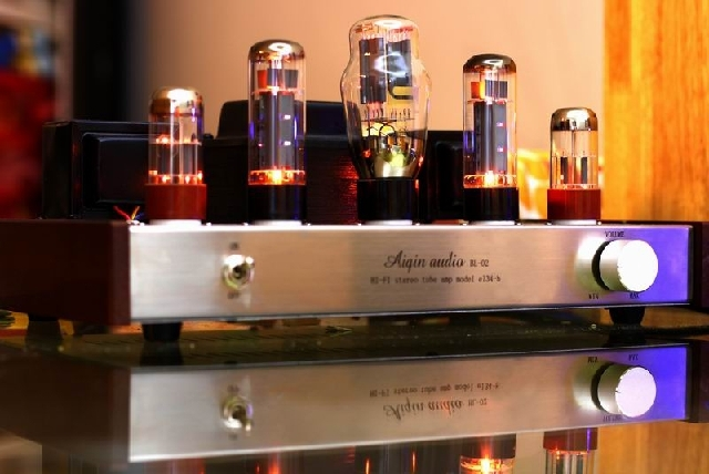 OldChen EL34 Single-ended Tube <font><b>Amplifier</b></font> HIFI EXQUIS AIQIN Class A handmade lamp amp Silver version OCEL34S