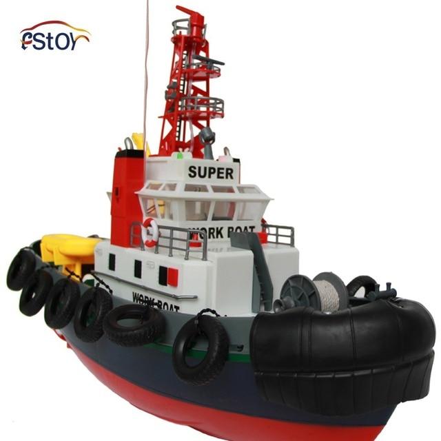 Fuego grande barco del RC 5 canales de Control remoto puerto del barco de trabajo de lucha contra incendios RC juguetes electrónicos modelo