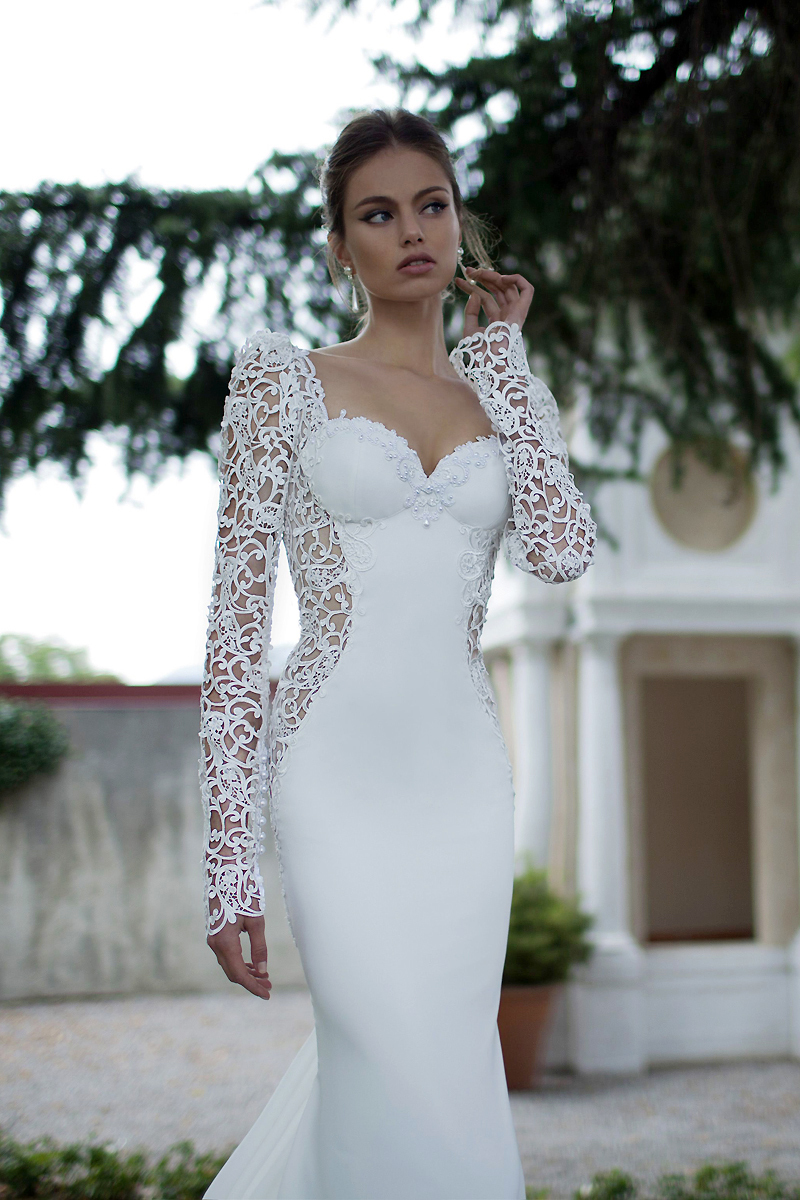 Hot Sale Outdoor White Lace And Organza Mermaid Wedding Dresses ...