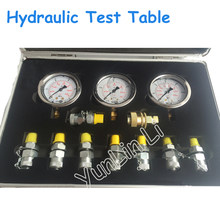 Portable Hydraulic Test Table Hydraulic Test Gauge Mechanical Digger Pressure Testing Tool Pressure Measuring Connector XZTK-60M(China)