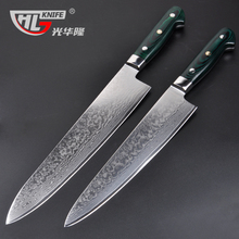GHL 10.5 Inch damascus knives new Kitchen Knife very sharp meat cutting Cleaver kitchen tools Micarta handle