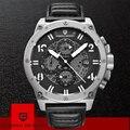 PAGANI Топ Элитный бренд водостойкий Военная Униформа Wistwatch Хронограф Спортивные часы для мужчин кожа кварцевые часы Relogio Masculino 2019