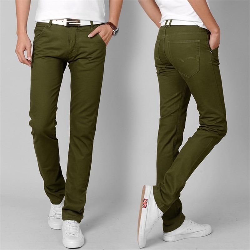 Responsible 5 Styles Hot New Fashion Mens Slim Fit Urban Straight Leg Trousers Casual Pencil Jogger Cargo Leg Pants Choice Materials Skinny Pants