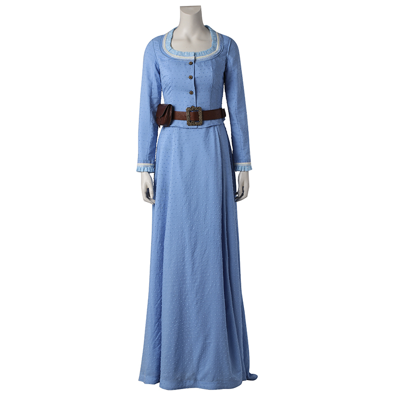 Westworld Cosplay Costume Dolores Abernath Cosplay Clothing Sexy Tube Top Dress Ancient Halloween Outfit for Women Custom Made