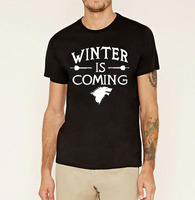 2016 Hip Hop Men T Shirt Funny Game Of Thrones Winter Is Coming T Shirt Homme