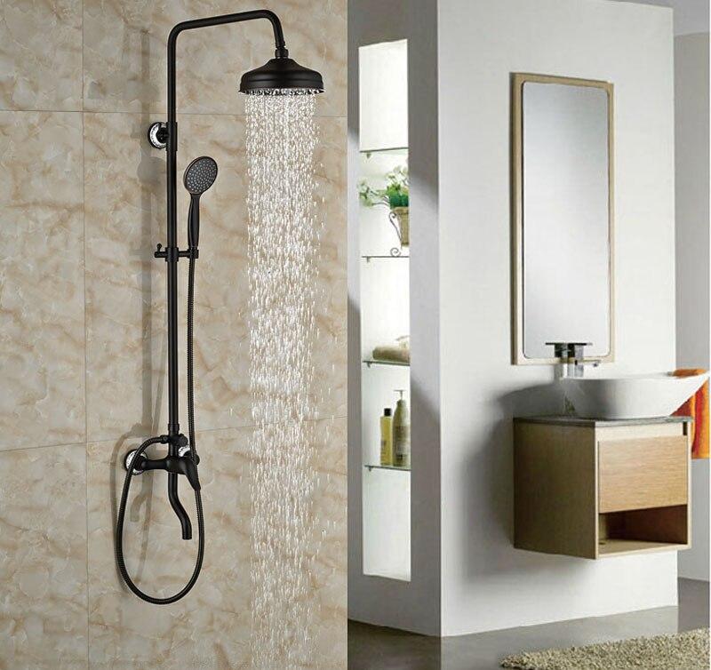 Luxury Bath Tub Shower Set Oil Rubbed Broze Shower Units Mixer Tap ...