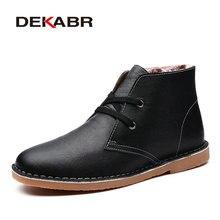DEKABR Men's Autumn Winter Men Genuine Leather Boots New 2016 Men Boots Fashion Men Ankle Boots Masculino Plus Size 40~48