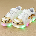 Size 21-30 fashion children shoes with led light up shoes luminous glowing sneakers kids toddler boys girls shoes led sneakers