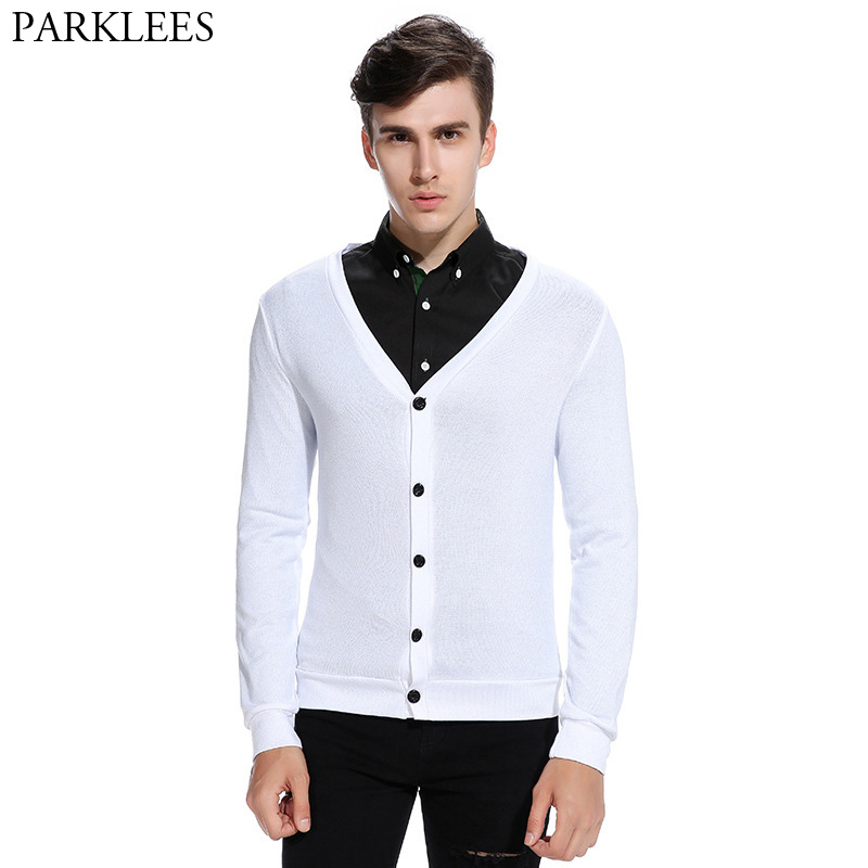 White Sweater Men 2017 Brand New Autumn Men Sweater Slim Fit Mens ...
