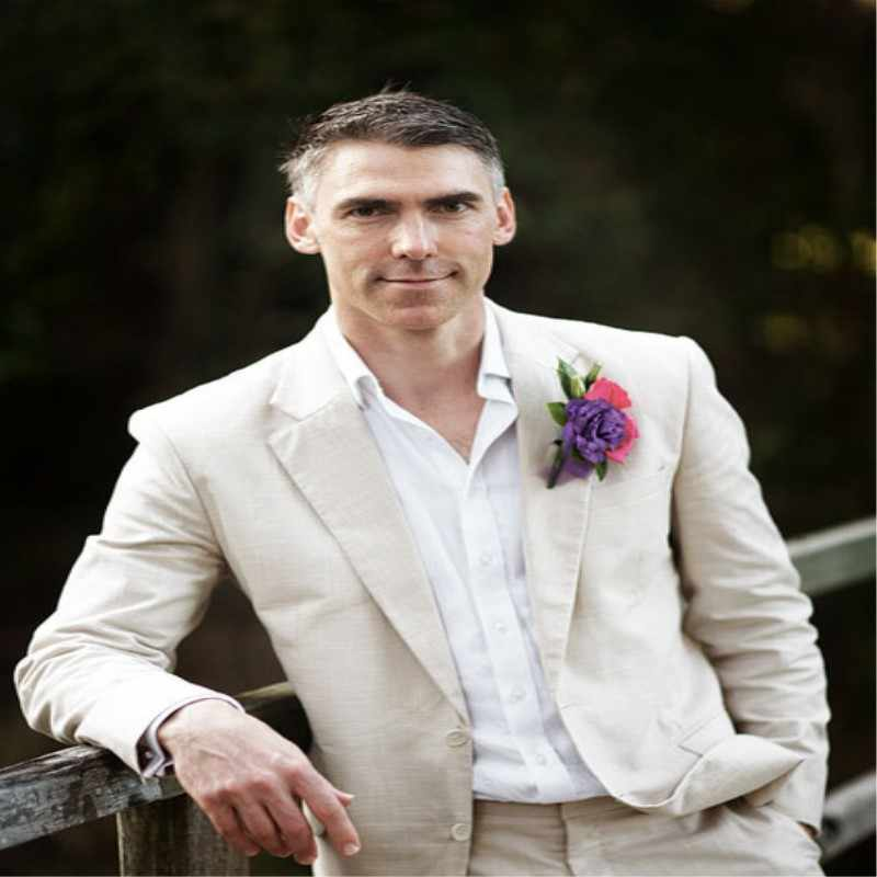 TPSAADE 最新コートパンツデザインベージュアイボリーリネンスーツ男性の結婚式夏ビーチ新郎タキシードシンプルなカスタム 2 ピースジャケット