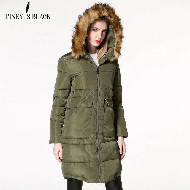 2016 Mulheres de Inverno Parka Casual Outwear Thicking Casaco Com Capuz Mulheres Jaqueta de Inverno Grande Fur Coats Mulheres Sobretudo Roupa de Mulher