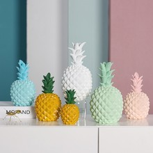 Nordic Modern Pineapple Large Resin Statue Creative Sculpture Storage Jar Coin Box Living Room Office Home Decor Ornament Crafts