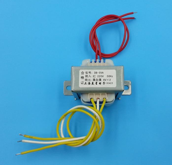 Dual 6V 9V 12V 15V 18V 24V 36V Transformer 220V Input Power Transformer 5VA EI41 5VA Transformer For Pre-amplifier Board