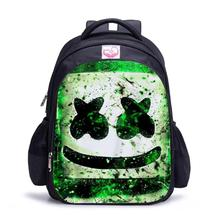 DJ Smiley Face  Cool Backpack Battle royale School Bags Smiley Cosplay Costume Prop For Kids Girl Boy Traveling Backpack цена