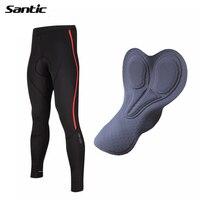 2017 Santic Cycling Pants Men Windproof Fleece Long Trouser Bike Pants MTB Mountain Road Bicycle Riding