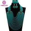 Últimas Azul Turquesa Joyería de La Boda Africana de La Manera WD628 Babero Conjunto Bisutería para Las Mujeres el Envío Libre