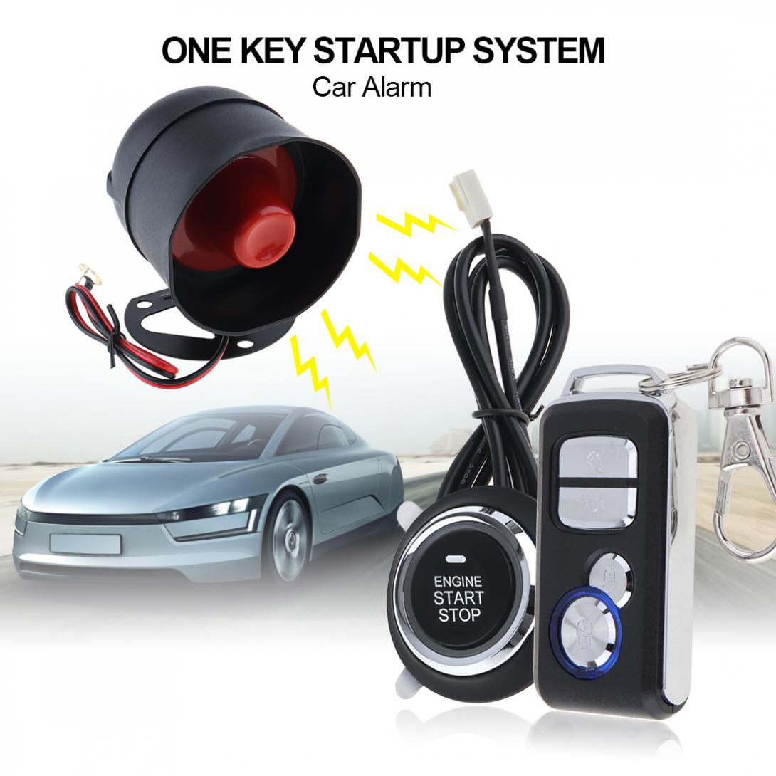 Voiture Auto Alarme À Distance Start Stop Moteur Système avec Auto Verrouillage Central Véhicule Sans Clé D'entrée 5A avec Clé 1 Anti -vol Système