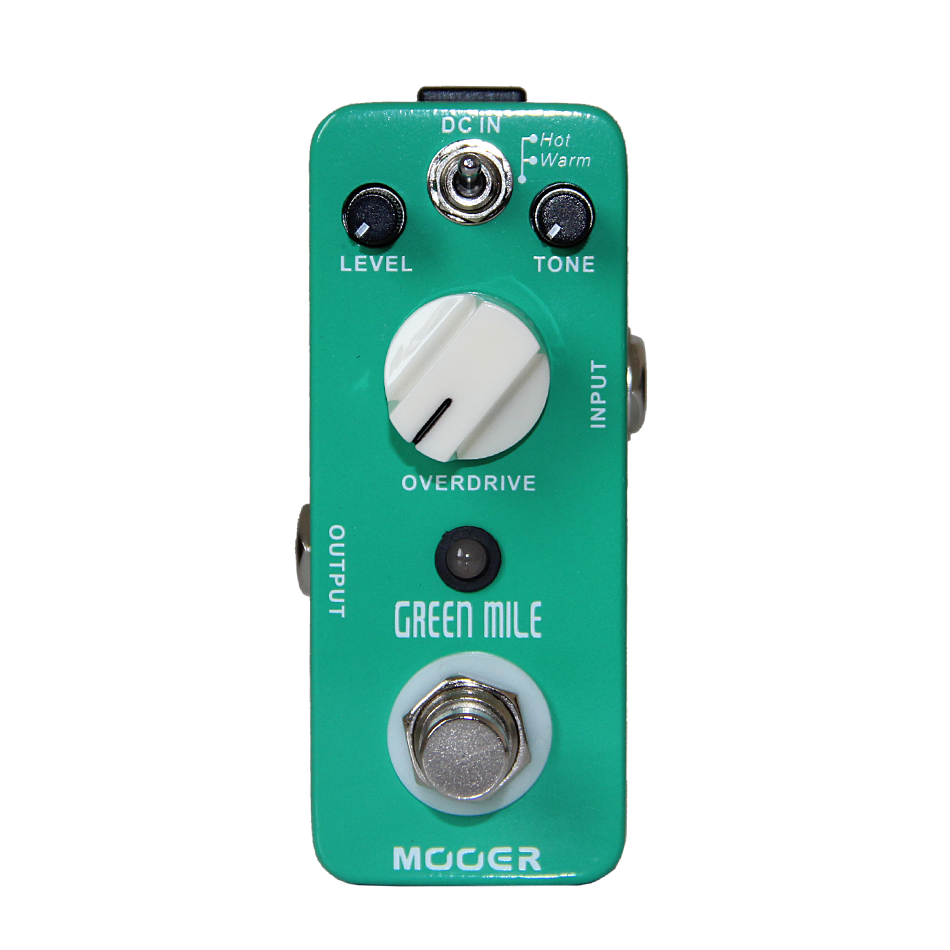 NEW Effect Pedal /MOOER Green Mile Overdrive Pedal 2 Overdrive modes Excellent sound new effect pedal mooer solo distortion pedal full metal shell true bypass