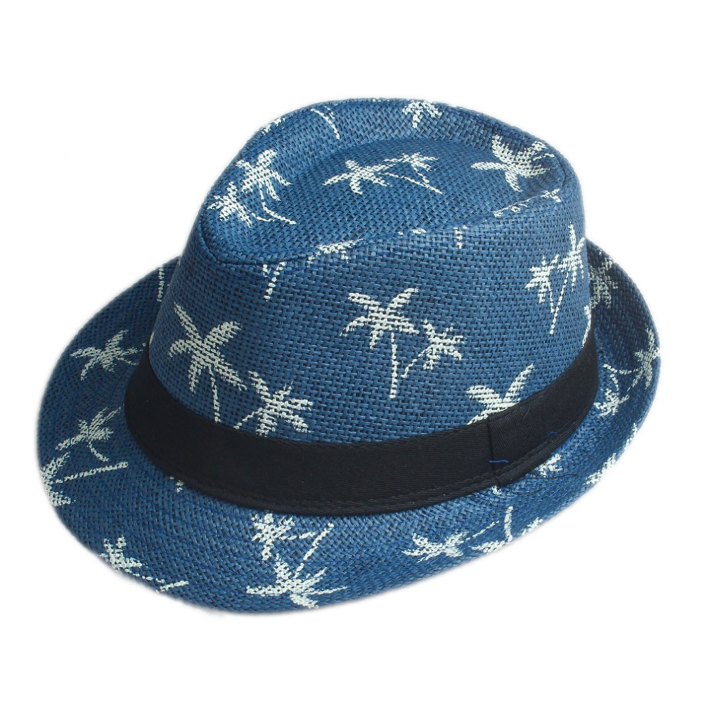 10 Color Children Summer straw Sun hat kids Boho Beach Sunhat Fedora hat  Trilby panama Hat handwork for boy girl Gangster Cap-in Hats   Caps from  Mother ... bc4df8b04631