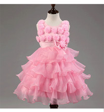 New Flower Girl Dress For Party And Wedding Princess Costume Children Clothing Girls Dresses Summer 2016 Kids Clothes Vestidos