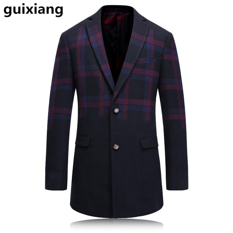 2017 new style Men's casual fashion wool stripe trench coat Men high quality coat dust coat men casual windbreaker jackets