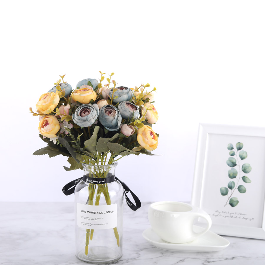 Silk DIY Daisy Camellia Artificial Flowers For Xmas Party And Wedding Decoration 1