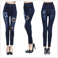 CornPoppy fashion Women Leggings jeans leggin Fashion stretch casual Denim jean legging Pants 2017 High Qulity