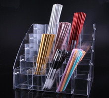 Pen stand acrylic Eyeshadow pen display stationery store pencil eyebrow neutral ballpoint storage box