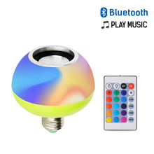 Bluetooth Remote Control LED Music Bulb AC110-265V 7+3W RGB White E27 Led Wireless Lamp for Party