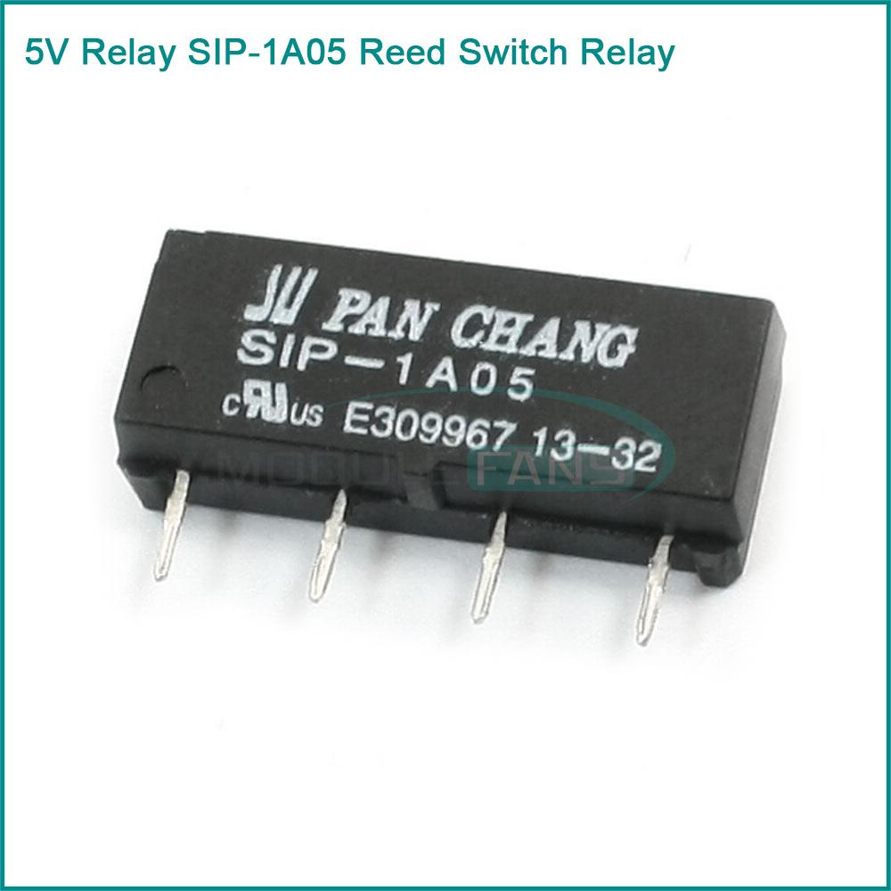 reed switch relay reviews online shopping reed switch relay 5pcs 5v relay sip 1a05 reed switch relay for pan chang relay 4pin new