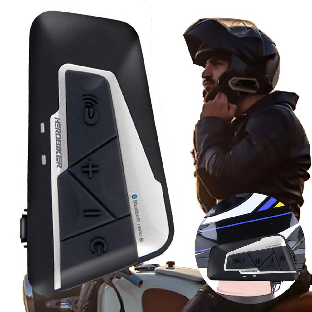 1200M Interphone casque de moto Interphone sans fil écouteur étanche moto Interphone casque