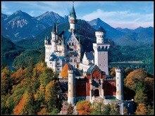 Haft Counted Cross zestaw do szycia robótki rzemiosła 14 ct DMC DIY sztuki ręcznie Decor zamek Neuschwanstein 2