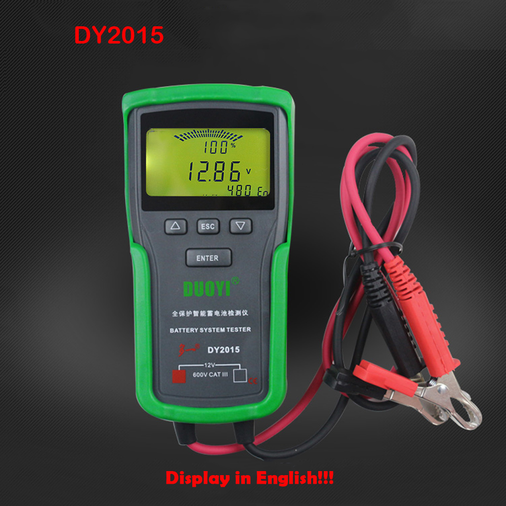 DY2015 12V Car Battery Tester Battery Capacity Tester Battery System Tester Capacity Maximum Electronic load Battery Charge Test lithium battery capacity tester mobile power capacity test module 18650 battery test electronic load