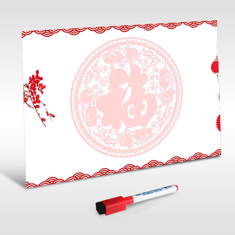 Pizarra magnética YIBAI, mensaje de pizarra con imán de borrado en seco/tablero de escritura con la palabra China
