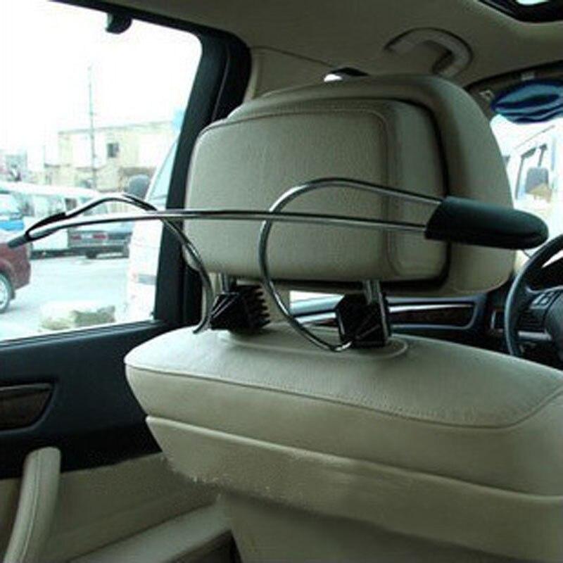 Neues Dienstprogramm Edelstahl Auto Auto Kopfstütze Kleiderbügel Kleidung Jacken Halter Suits Rack Auto Zubehör