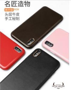 Image 3 - Pour iphone XS XS Max bovin étui en cuir 100% Original Duzhi marque pleine protection en cuir véritable étui pour iphone 7 7 plus 8 8plus