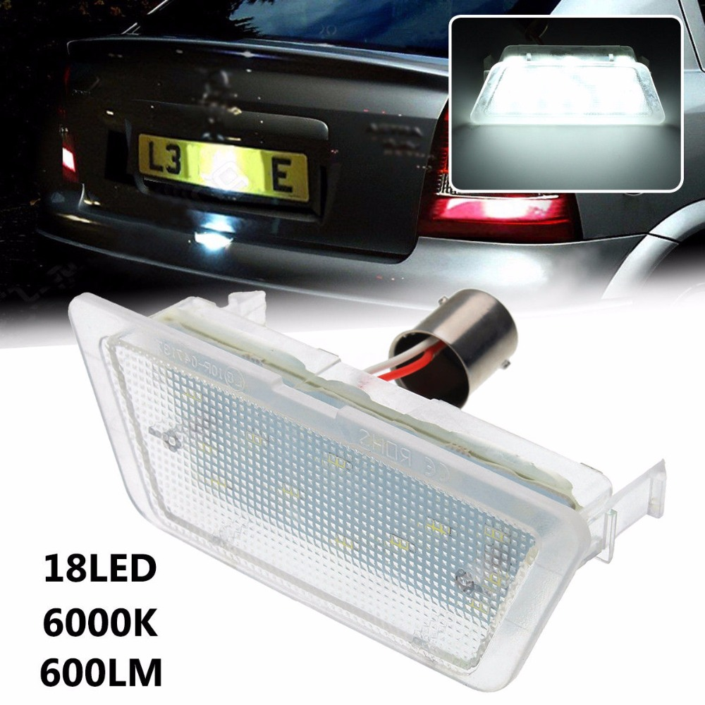 CYAN SOIL BAY 1pc LED License Number Plate Light Lamp For Vauxhall Opel Astra G MK4 Saloon 98-04 audew 18 led license number plate light for vauxhall opel corsa c d astra h insignia
