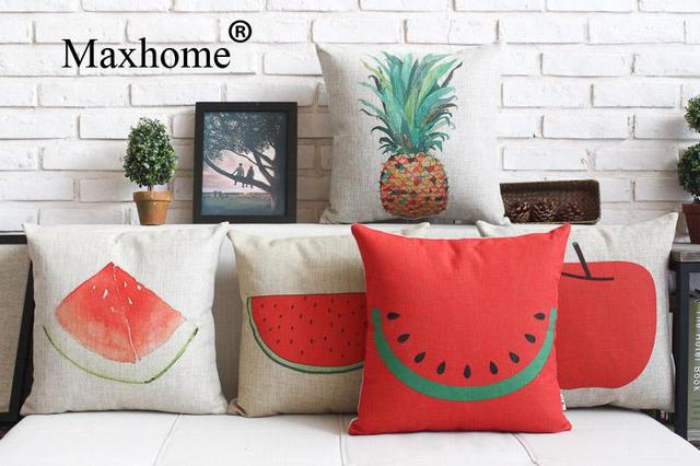 Pastoral Painted Pillowcase Simple Fruit Cushions Decorative