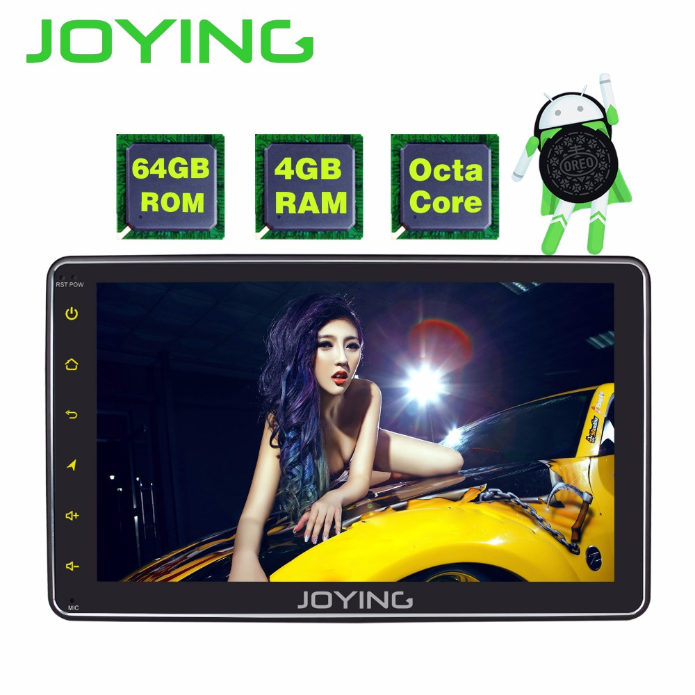 JOYING 4GB RAM 64GB ROM 1 DIN 8 INCH Android 8.0 car Autoradio HD screen stereo head unit tape recorder GPS player with carplay joying 1 din android 8 0 car radio with free dvr camera bluetooth 8 8 px5 octa core recorder head unit system autoradio carplay