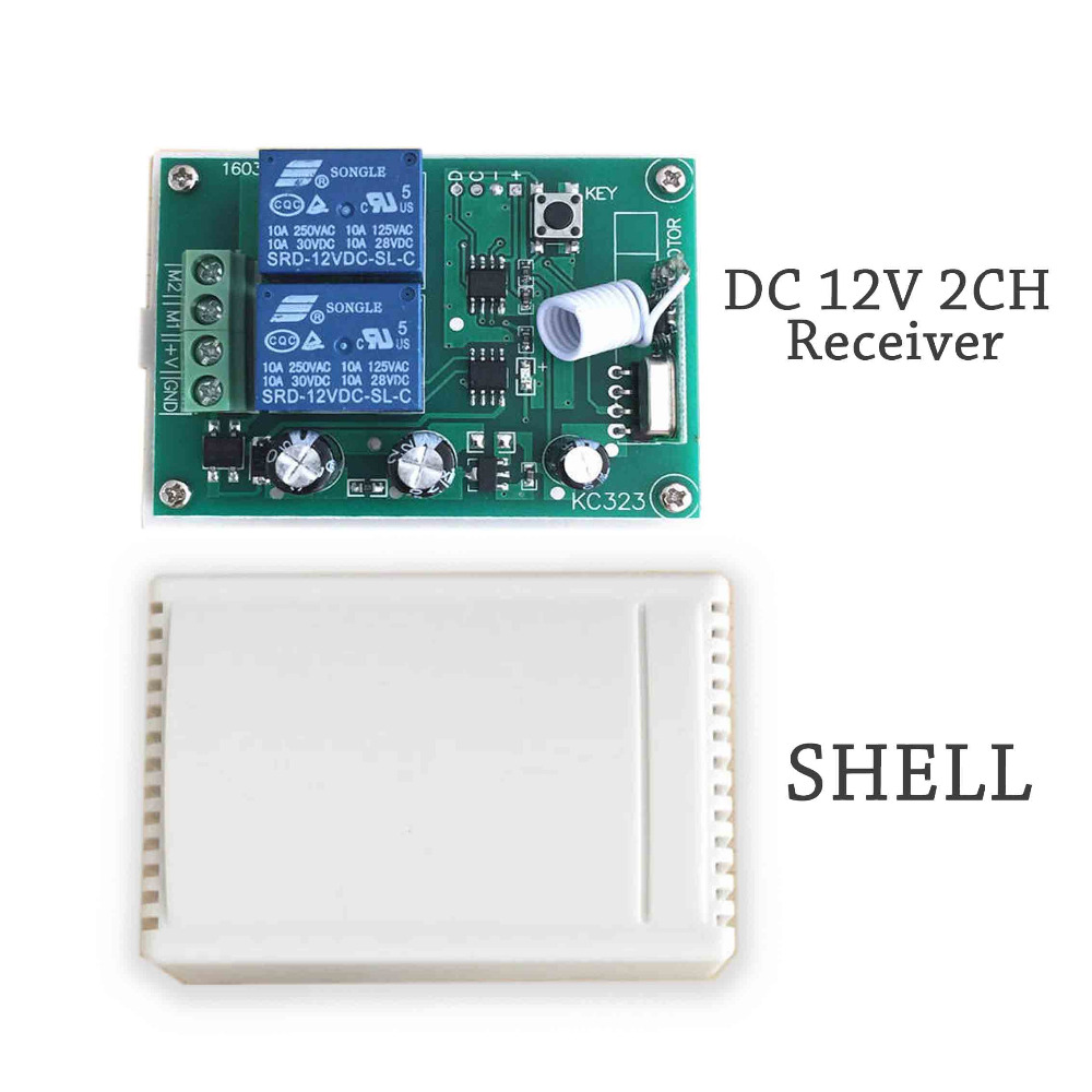 Buy 433mhz Wireless Rf Switch Dc12v Relay Receiver Circuit Module And 43392 Mhz Remote Controls For Dc Motor Forward Reverse Controller From